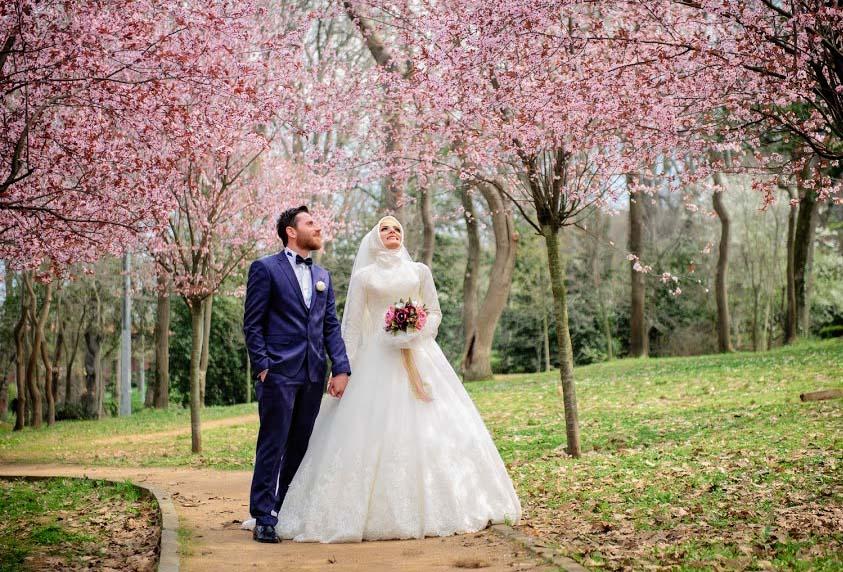 Küçük Çamlıca Korusu Düğün Fotoğrafları Çekimi