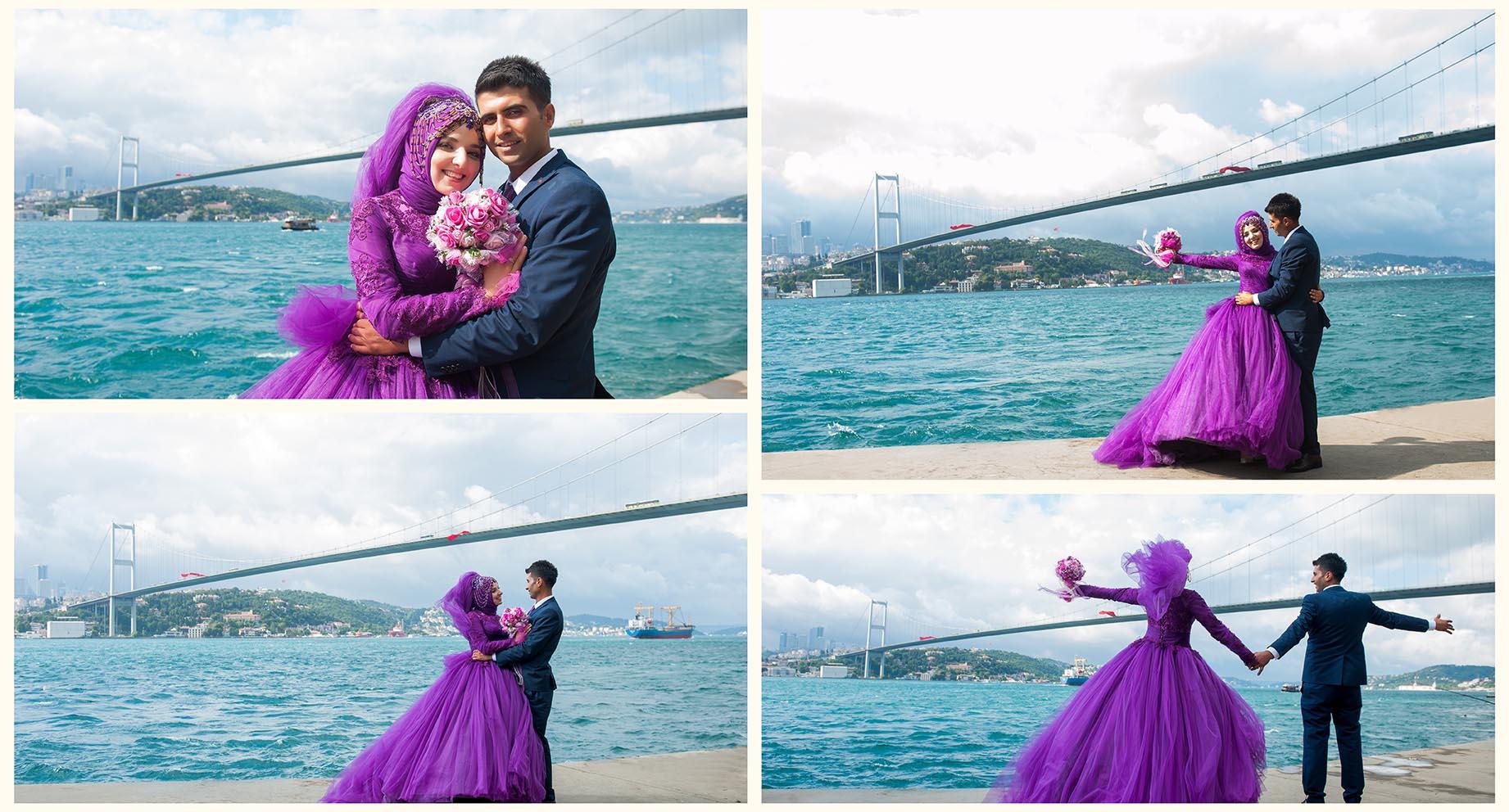 kız kulesi düğün fotoğrafları - istanbul bo  az sahil ni  an foto  raf   ekimi - Kız Kulesi, Fethi Paşa Korusu, Kuzguncuk Boğaz Sahil Düğün Fotoğrafları Çekimi