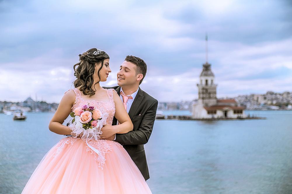 kız kulesi düğün fotoğrafları - k  z kulesi ni  an foto  raf   ekimi - Kız Kulesi, Fethi Paşa Korusu, Kuzguncuk Boğaz Sahil Düğün Fotoğrafları Çekimi