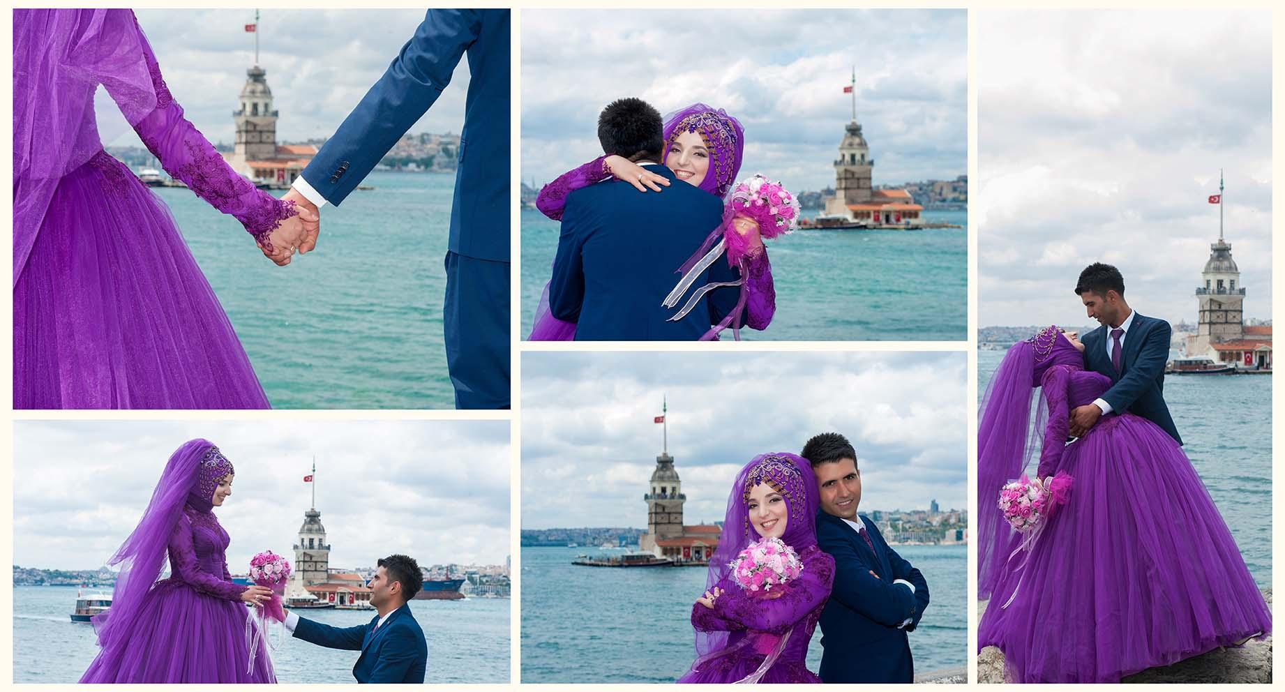 kız kulesi düğün fotoğrafları - k  z kulesi ni  an foto  raflar   - Kız Kulesi, Fethi Paşa Korusu, Kuzguncuk Boğaz Sahil Düğün Fotoğrafları Çekimi