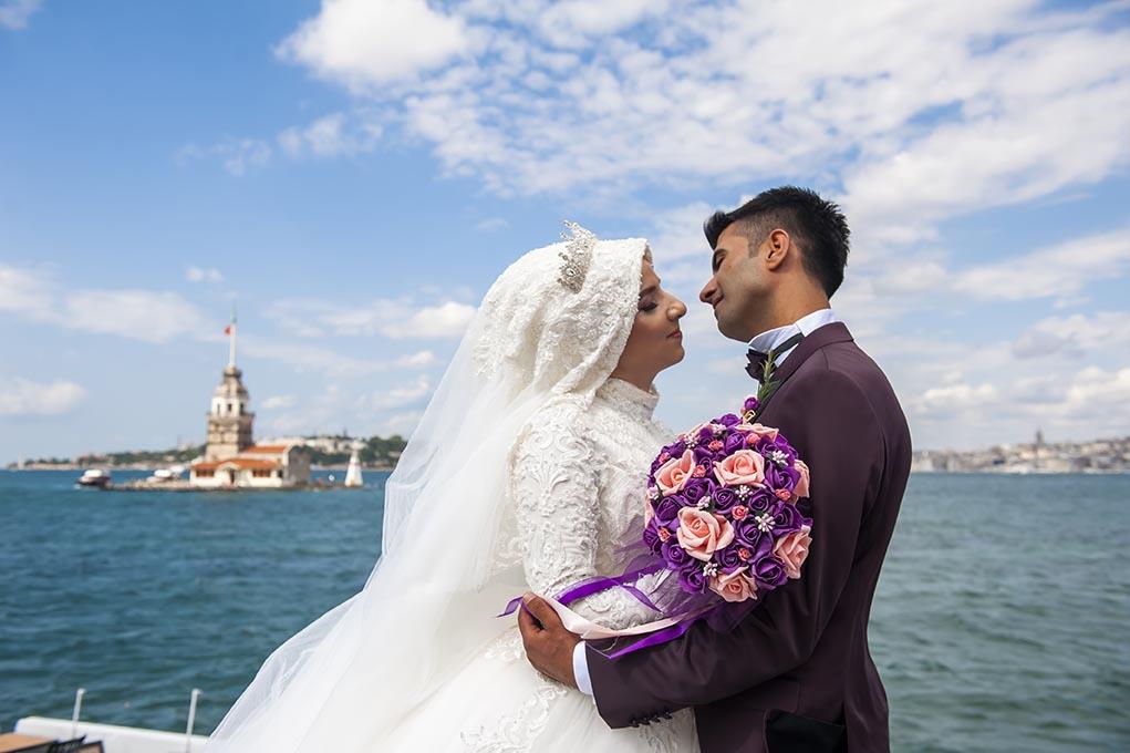 kız kulesi düğün fotoğrafları - k  z kulesi - Kız Kulesi, Fethi Paşa Korusu, Kuzguncuk Boğaz Sahil Düğün Fotoğrafları Çekimi